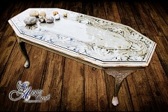 Wooden Hand Carved Coffee Table - Refurbished