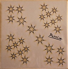 Set of 26 wooden stars