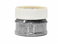 Glitter Powder, SILVER, 25ml bottle