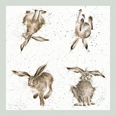 Wrendale Cocktail Napkins, 25 x 25cm, HARE