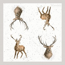 Wrendale Cocktail Napkins, 25 x 25cm, STAG