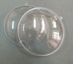Large Clear Acrylic Medallion, 11cm
