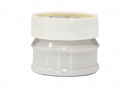 Glitter Powder, SNOW WHITE, 15g bottle