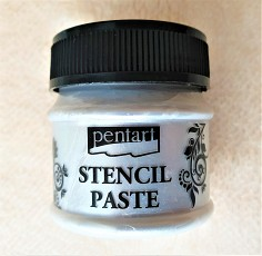 Pentart Stencil Paste, PEARL ICE FLOWER, 50ml