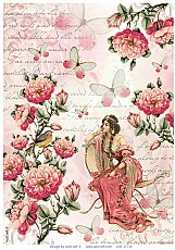 AIST Rice Decoupage Paper, Product Code 21734
