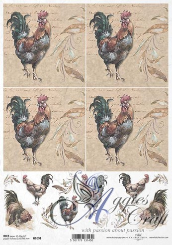 ITD Rice Decoupage Paper  Product Code R1091