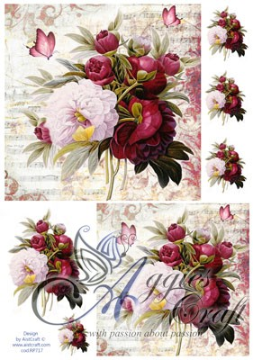 AIST Rice Decoupage Paper, Product Code RP717S