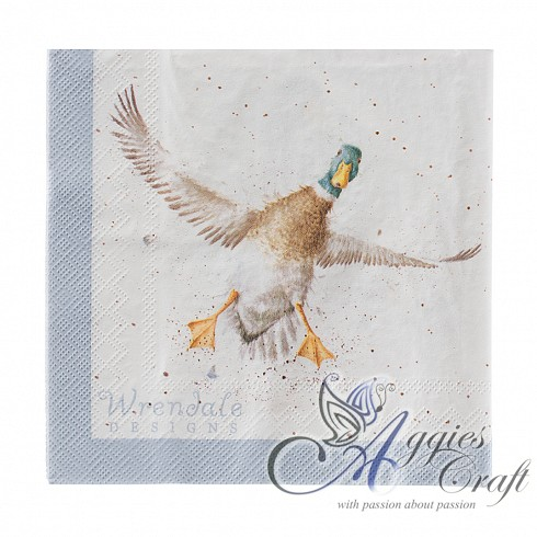 Wrendale Lunch Napkins, 33 x 33cm, DUCK