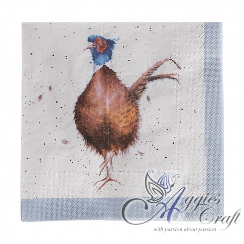 Wrendale Lunch Napkins, 33 x 33cm, PHEASANT